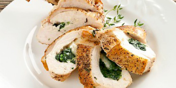 Chicken Breast Stuffed with Cheese and Spinach