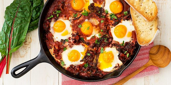 Fiery Baked Eggs