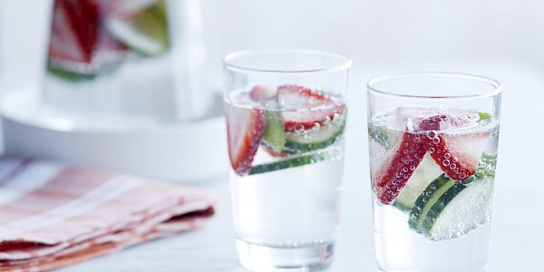 Strawberry-Cucumber-Basil- Water