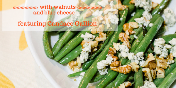 Green Beans With Walnuts and Blue Cheese